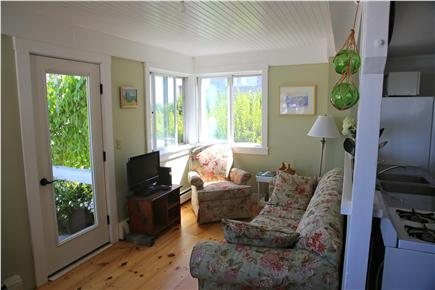 Provincetown, west end Cape Cod vacation rental - Living room and entrance