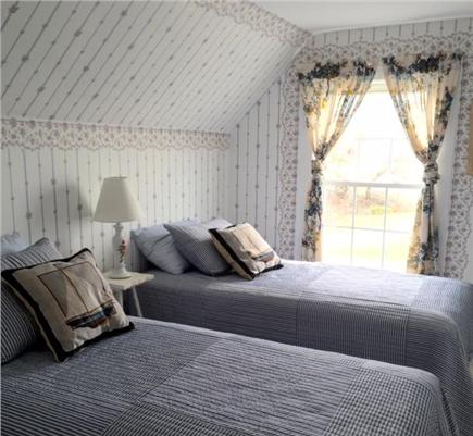 Falmouth Heights Cape Cod vacation rental - Bedroom 3, Two twin beds, beach views