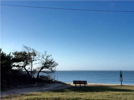 Falmouth Heights Cape Cod vacation rental - View of the beach from the porch, directly in front of the house