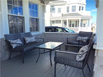 Falmouth Heights Cape Cod vacation rental - Beach facing outdoor porch