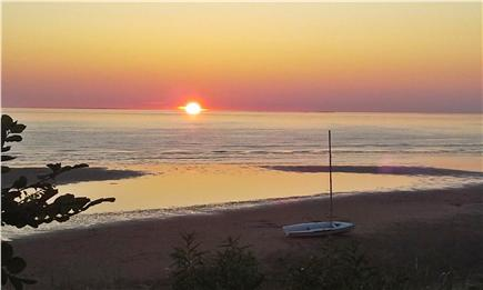 Eastham Cape Cod vacation rental - Sunset over the Bay
