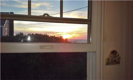 Eastham, bay side, Campground  Cape Cod vacation rental - Sunset view from the window