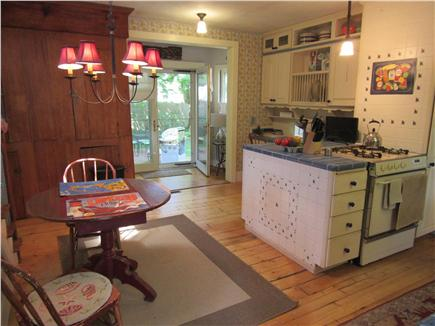 South Yarmouth Cape Cod vacation rental - View of kitchen out to patio