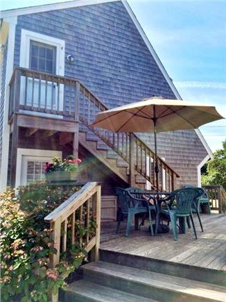 Eastham Cape Cod vacation rental - The deck connecting the main cottage to the 3rd bed/2nd bath.
