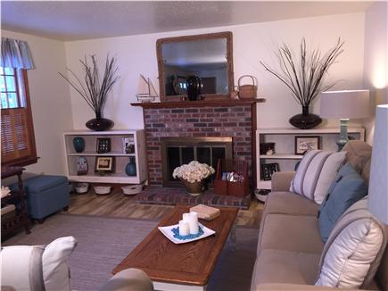 Chatham Cape Cod vacation rental - Living Room- Ornamental Fireplace