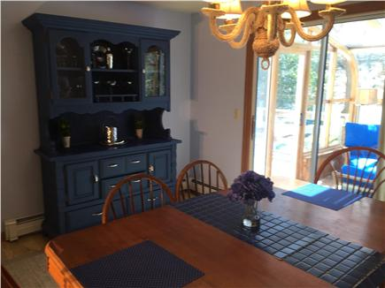 Chatham Cape Cod vacation rental - Dining Room with access to Sun Room and Deck-Seats 6