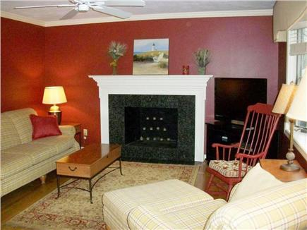 South Yarmouth Cape Cod vacation rental - Living Room with Fireplace
