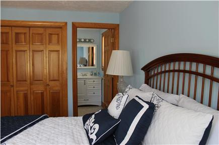 Falmouth Cape Cod vacation rental - 2nd bedroom, queen size bed w/access to full bath, 1st level