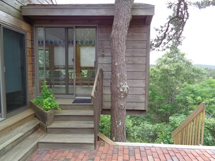 Wellfleet Cape Cod vacation rental - Brick Patio Leading To Sliders
