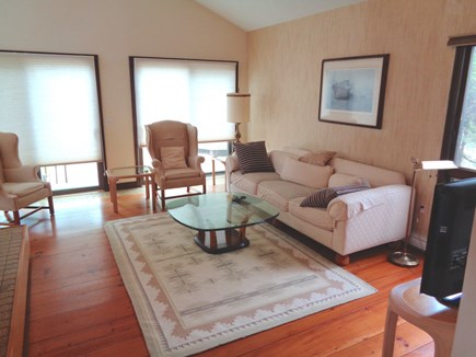 Wellfleet Cape Cod vacation rental - Main Level Living Room With TV