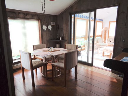 Wellfleet Cape Cod vacation rental - Breakfast Room With Sliders To Sunroom