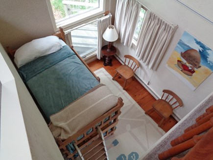 Wellfleet Cape Cod vacation rental - Looking Down At Bunk Room