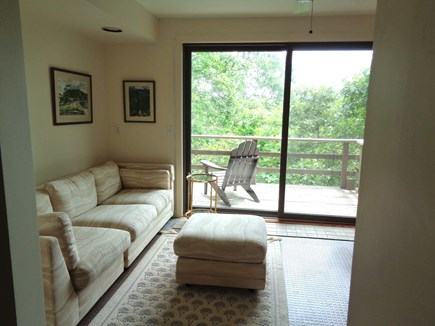 Wellfleet Cape Cod vacation rental - Nice Bottom Level Reading Room W/ Sliders Out To Deck & Out showe