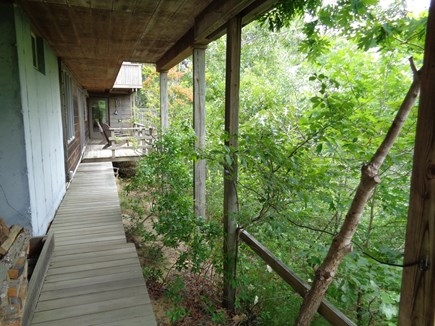 Wellfleet Cape Cod vacation rental - Back Area Walkway to Shower