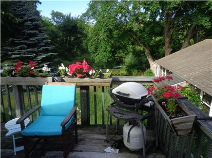 Orleans-.3 mile from Harbor Cape Cod vacation rental - Pond view from deck & Weber gas grill