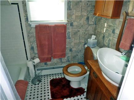 Orleans-.3 mile from Harbor Cape Cod vacation rental - Bathroom with antique oak washstand