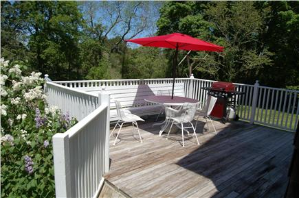 Barnstable Cape Cod vacation rental - Back deck.