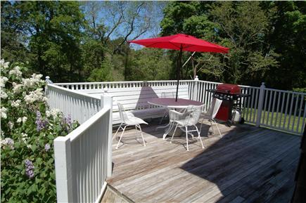 Barnstable Cape Cod vacation rental - Back deck.