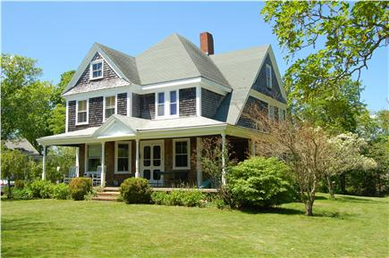 Barnstable Cape Cod vacation rental - Front of house with large porch.