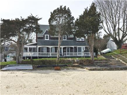 Wareham, Buttermilk Bay / Cohasset Narr MA vacation rental - Back of house on beach