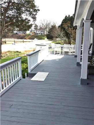 Wareham, Buttermilk Bay / Cohasset Narr MA vacation rental - Back deck
