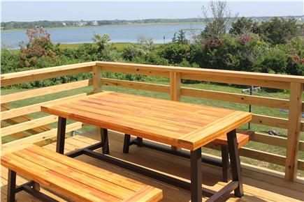 west yarmouth Cape Cod vacation rental - Back deck with water view