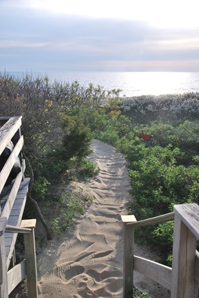 North Eastham Cape Cod vacation rental - Walk from the deck over the dune to the beach