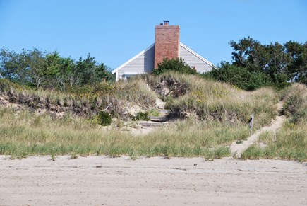 North Eastham Cape Cod vacation rental - Dunelighthouse view from the beach