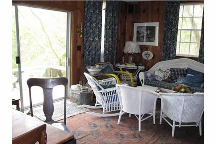 Truro Cape Cod vacation rental - Living room area and picture window....