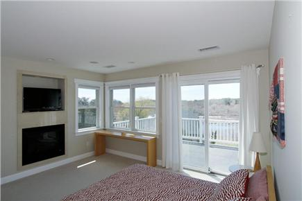 Chatham Cape Cod vacation rental - Queen Room with Fireplace, Deck and Attached Bath (2nd Floor)
