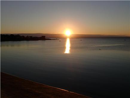 Mattapoisett, Mass. MA vacation rental - Sunset from deck.