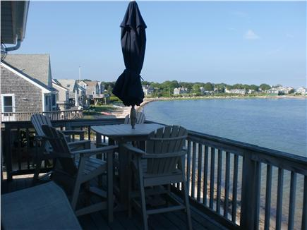 Mattapoisett MA vacation rental - Enjoy eating on the deck. Table and chairs are high to view water