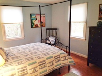 North Truro Cape Cod vacation rental - Queen bedroom on first floor next to full bath, has window a/c