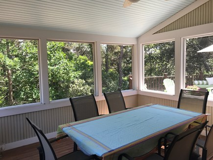 North Truro Cape Cod vacation rental - Lovely screened porch will be favorite place for all meals