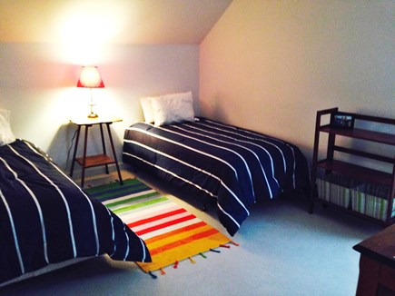 North Truro Cape Cod vacation rental - Second bdrm upstairs with two twins and window a/c
