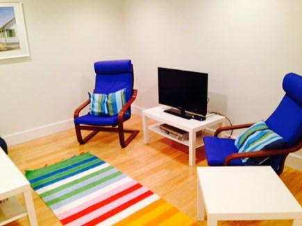 North Truro Cape Cod vacation rental - Newly finished lower level family room great extra hang out space