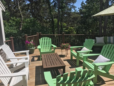 North Truro Cape Cod vacation rental - Spacious deck perfect for cocktails