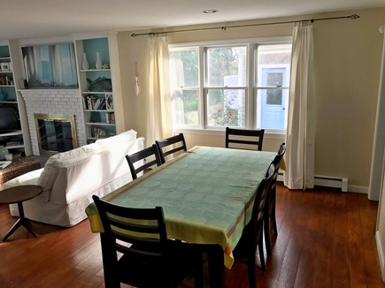 North Truro Cape Cod vacation rental - Dining area next to living room area