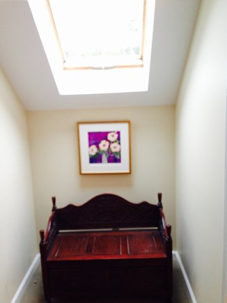 North Truro Cape Cod vacation rental - Skylight at top of stairs