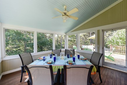 North Truro Cape Cod vacation rental - Large screened-in porch