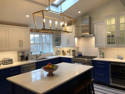 North Truro Cape Cod vacation rental - Gut-renovated kitchen w/ Thermador range, microwave, wine cooler.