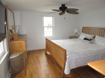 Dennis Cape Cod vacation rental - The master bedroom with ceiling fan, king size bed and ...