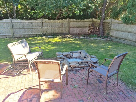 Yarmouthport Cape Cod vacation rental - Brick patio with fire pit