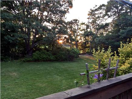 Harwichport Cape Cod vacation rental - Sunset from deck