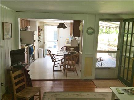 Harwichport Cape Cod vacation rental - Kitchen and partial view of front deck