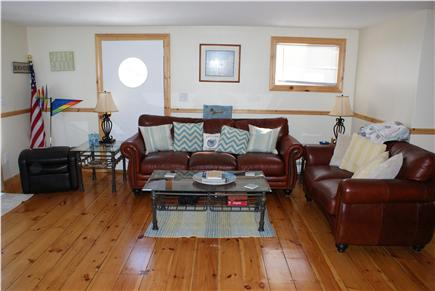 Sagamore Beach Sagamore Beach vacation rental - Living Room with sliders that open to the deck.