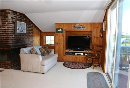 Sandwich Cape Cod vacation rental - Living Room with slider to upper level deck.