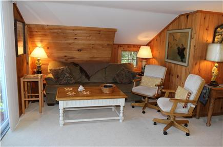 Sandwich Cape Cod vacation rental - Cozy pine paneling in Living Room.