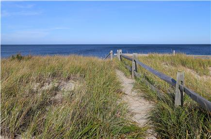 East Sandwich Cape Cod vacation rental - Access to the beach is by a pathway through the dunes.