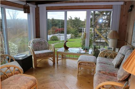 East Sandwich Cape Cod vacation rental - Sunroom opens to private back yard.